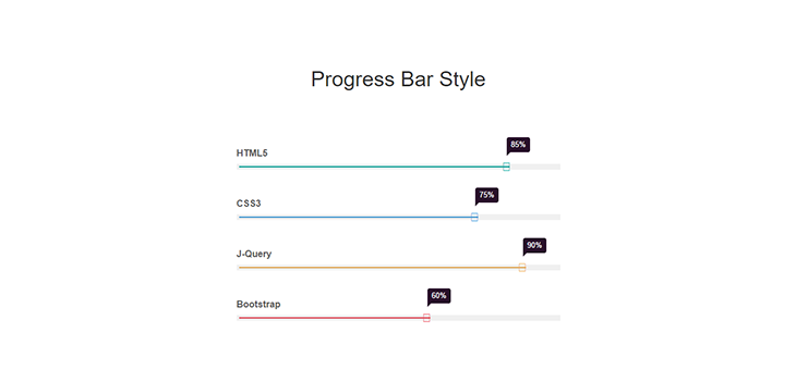 Simple Bootstrap Progress Bar Style