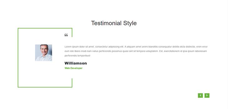 Bootstrap Simple Testimonial Slider