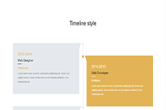 Bootstrap Responsive Timeline