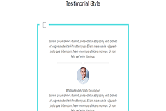 Bootstrap Testimonial Style