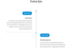 Bootstrap Responsive Timeline Style