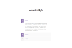 Bootstrap Simple Accordion Style