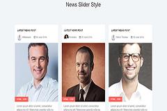 Bootstrap Responsive News Slider