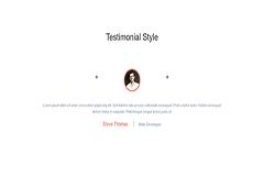 Bootstrap Responsive Testimonial Style