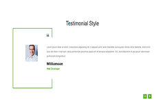 Bootstrap Simple Testimonial Slider