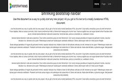 Shrinking Bootstrap Navbar