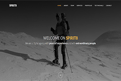 Spirit8 – Free Bootstrap HTML template