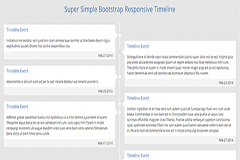 Super Simple Bootstrap Responsive Timeline