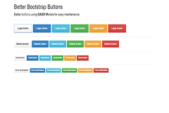 Better Bootstrap Buttons