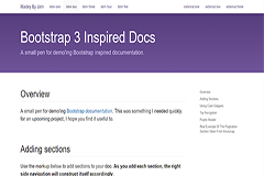 Bootstrap 3 inspired docs