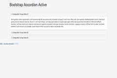 Bootstrap Accordion Active