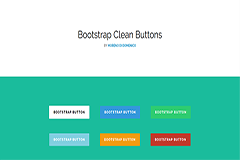 Bootstrap Clean Buttons