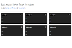 Bootstrap Navbar Toggle Animations