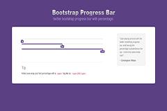 Bootstrap Progress Bar Percentage