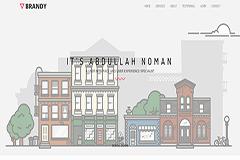 Brandy – Free Bootstrap Portfolio Template