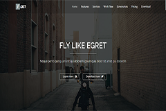 Egret – HTML5 Bootstrap landing page