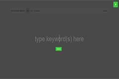Bootstrap Full Screen Search