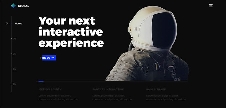 Global Creative Agency Bootstrap HTML5 Template