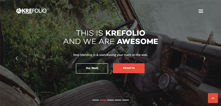 KreFolio – Startup Agency Bootstrap Landing Page Template