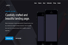 Lucid – HTML5 and Bootstrap Responsive app landing page