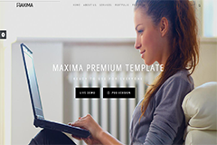Maxima – Free Bootstrap Business HTML Template