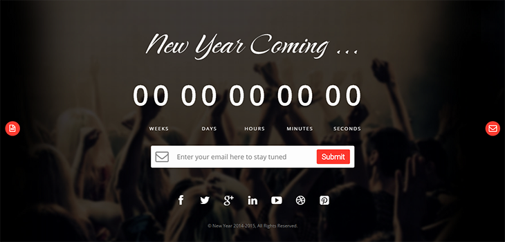 New Year – Bootstrap Responsive Melody HTML Template