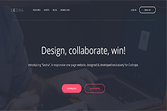 Sedna – One page Bootstrap website template