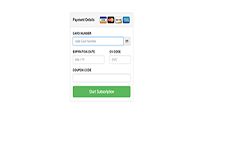 Simple Payment Form use Bootstrap