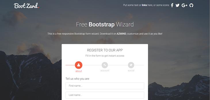 Bootstrap Wizard BootZard