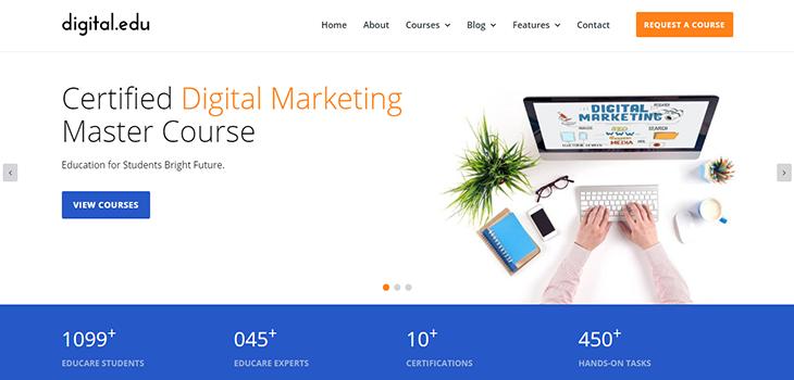 Digital Marketing Courses Website Template