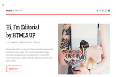Editorial Free Bootstrap Personal HTML5 Template