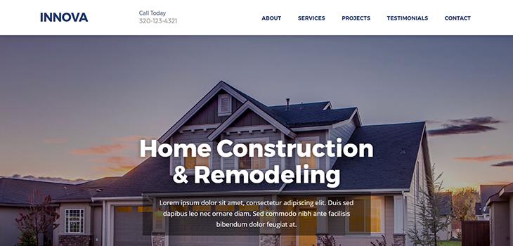 Innova Free Construction Website Template