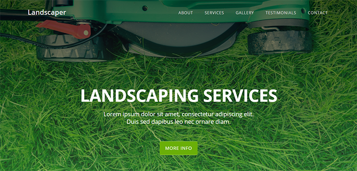 Landscaper Free Landscaping Website Template | Bootstrap Themes