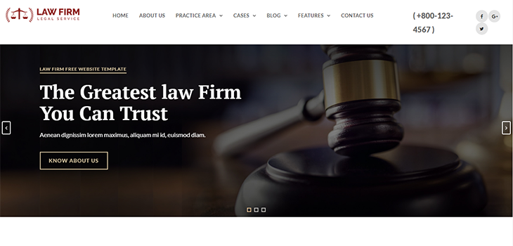 Law Firm Service Responsive HTML Website Template | Bootstrap Themes