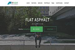 Flat Asphalt – Bootstrap One pager Prallax HTML 5 Template