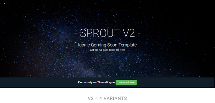 Sprout – Coming soon bootstrap templates