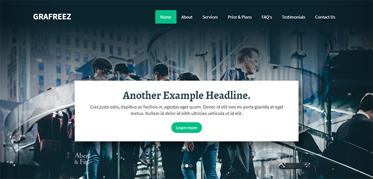 Aqua – Bootstrap Business Landing Page Template