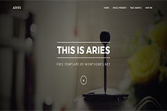 Aries Free Bootstrap HTML Template