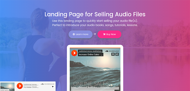 Audio Bootstrap Free HTML Landing Page
