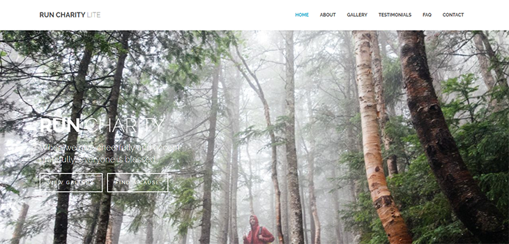 Run Charity Free Bootstrap HTML Template