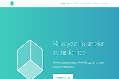 Cube Free HTML5 Bootstrap Website Template