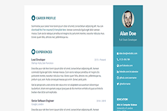 Orbit Free Responsive Bootstrap Resume Template