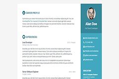 Orbit Free Responsive Bootstrap Resume Template