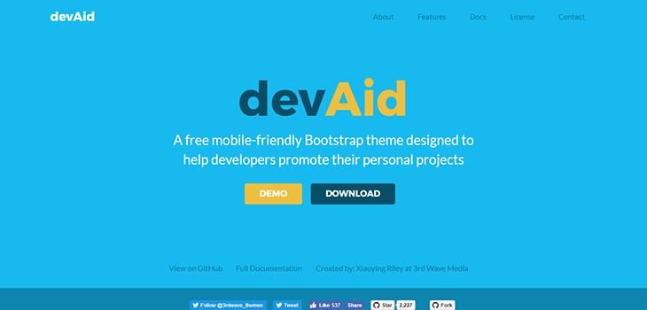 DEVAID Free Bootstrap Theme