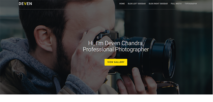 Photographer Free Website Template