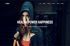 Fitness – One Page Fitness & Gym HTML Theme