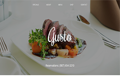Gusto Free Restaurant One Page Template