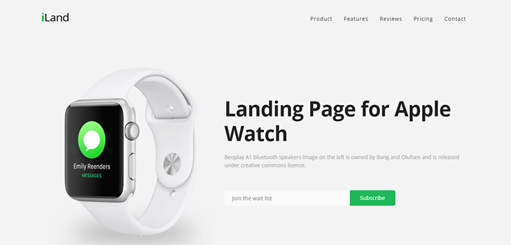 iLand – Multipurpose Bootstrap Landing Page HTML Template
