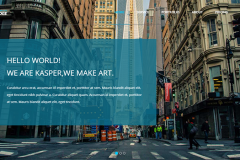 Kasper – Bootstrap One Page Creative HTML Theme