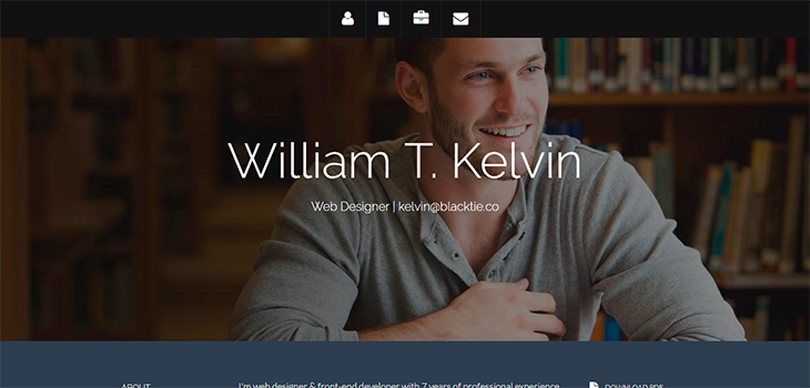 Kelvin – Bootstrap Resume Theme